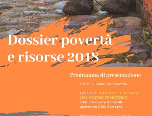 6 aprile 2019: Dossier povertà e risorse 2018