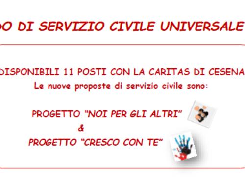 BANDO DI SERVIZIO CIVILE UNIVERSALE 2019